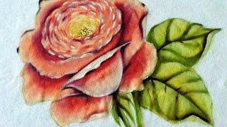 Como Pintar Rosa – Pintura em Tecido fácil – Adilson G Amaral