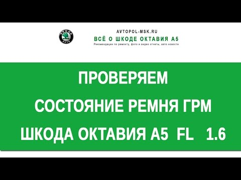 🔦 1 6 bse Skoda Octavia A5 как проверить состояние ГРМ