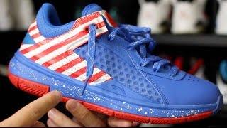 li ning wade 808 low captain america   sneakerbox co unboxing 2