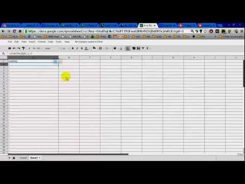 RSS Google Docs Excel