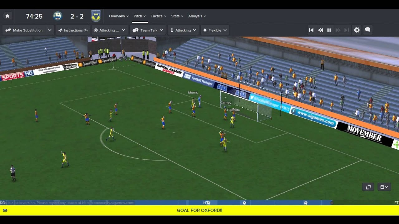 football manager 2015 3d match engine first thoughts youtube. Black Bedroom Furniture Sets. Home Design Ideas