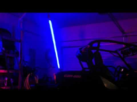 DIY color-changing LED whip