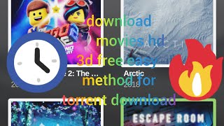 How to download movies in Hd|3d full method easy torrent download in android