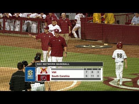 HIGHLIGHTS: Baseball vs. VMI — 2/16/18