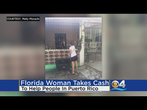 Woman Travels With Cash To Help Hurricane Victims In Puerto Rico