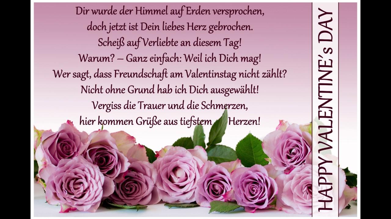 Valentinstag Grusskarte Fur Single Freunde Mit Gebrochenem Herzen