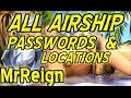 Final Fantasy X HD Remaster - Airship - All Passwords And Secret Locations