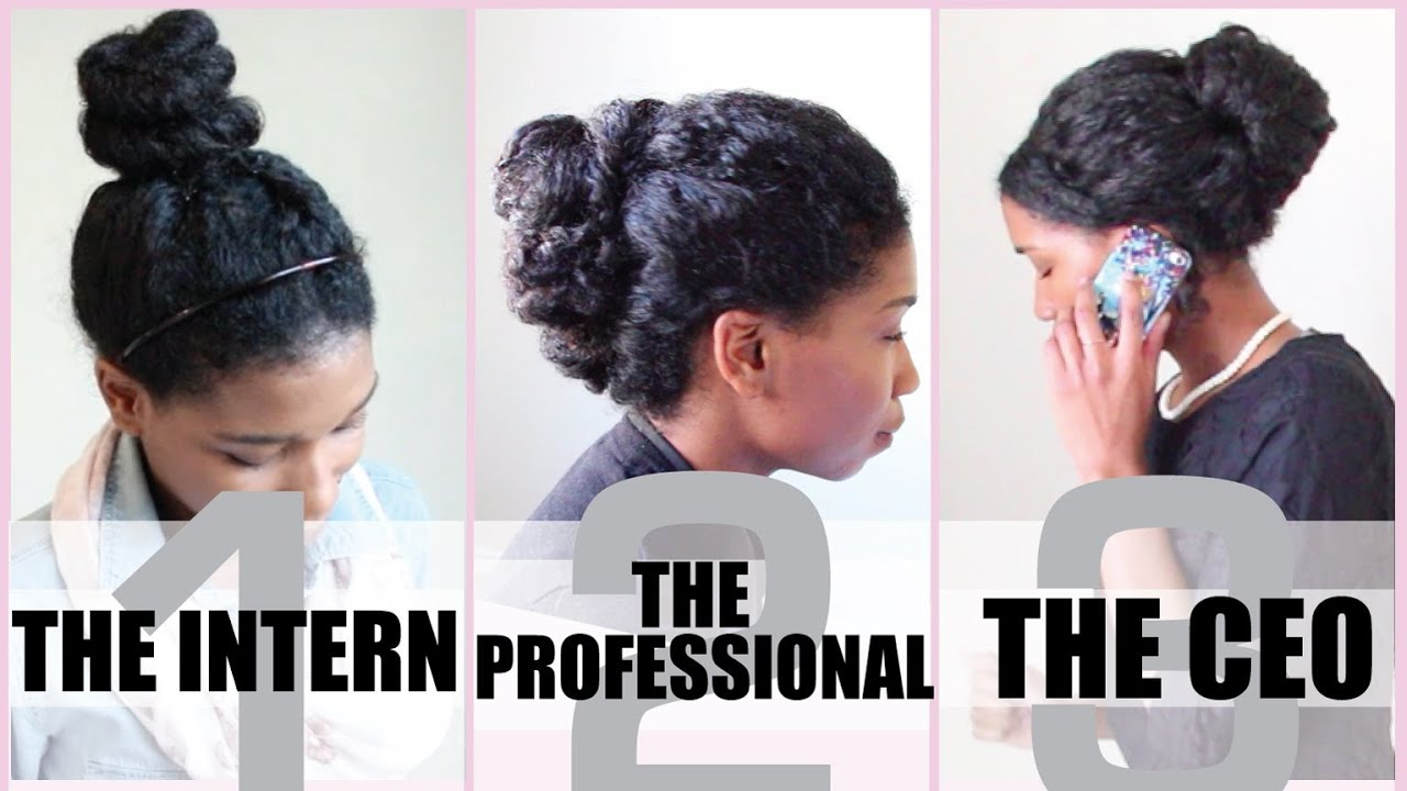 3 no heat corporate protective styles for medium length natural hair - naptural85