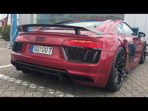 Audi R8 V10 Plus with MHP exhaust - LAUNCH Control And Onboard Ride!