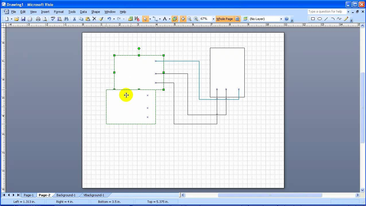 Drawing Lines In Visio : Visio connectors and connection points youtube