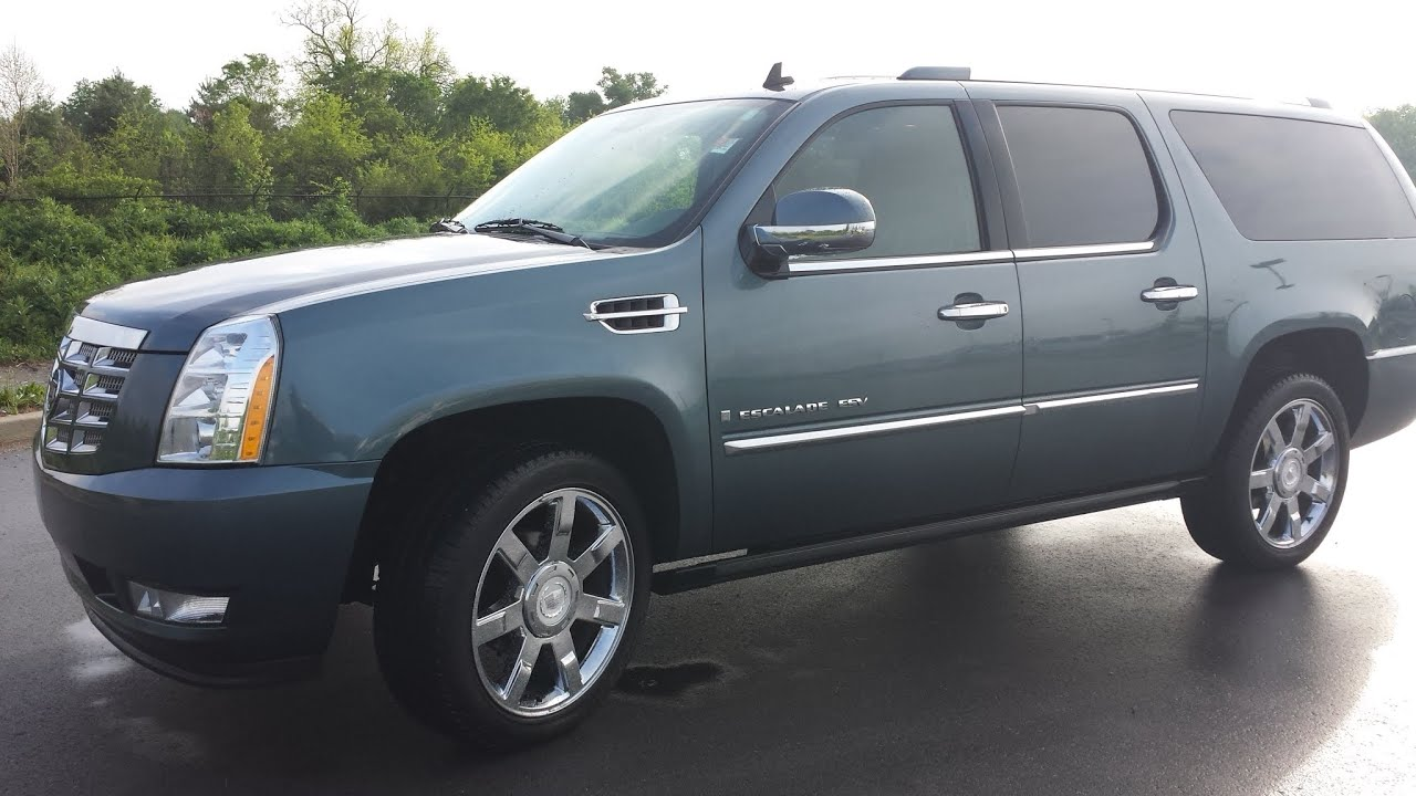 2008 Cadillac Escalade Esv Awd 75k 6 2l V8 Blue Chip Metallic Call Brian Griz 855 507 8520