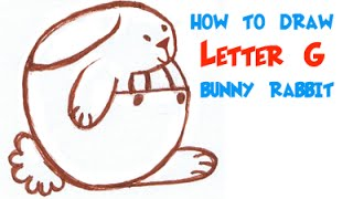How to Draw a Simple Letter G Bunny Rabbit