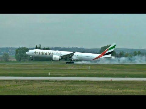 Repülők a Liszt Ferenc reptéren 2017. ápr. 15-én / Planespotting at Budapest (inc. Emirates B77W)