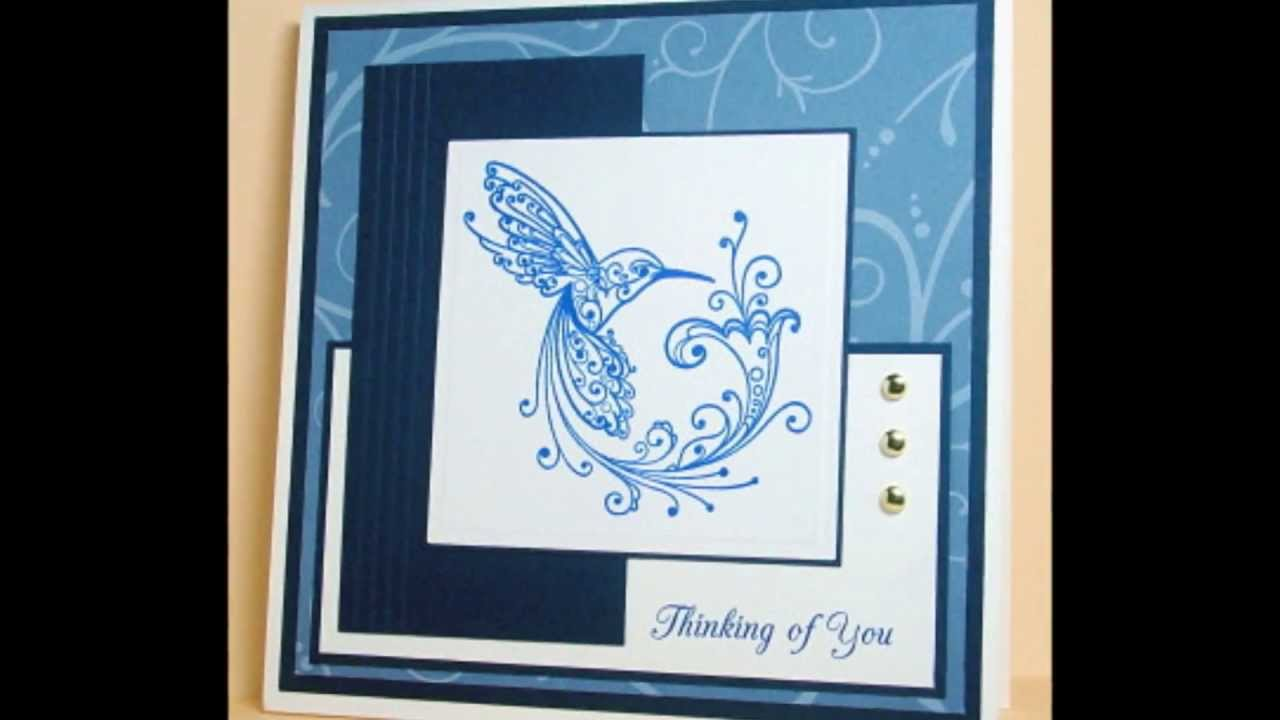 Rubber Stamped Greeting Cards YouTube