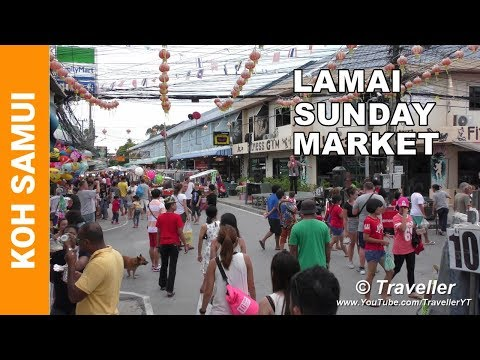 Koh Samui attractions – Lamai Beach Sunday Market – Koh Samui Markets