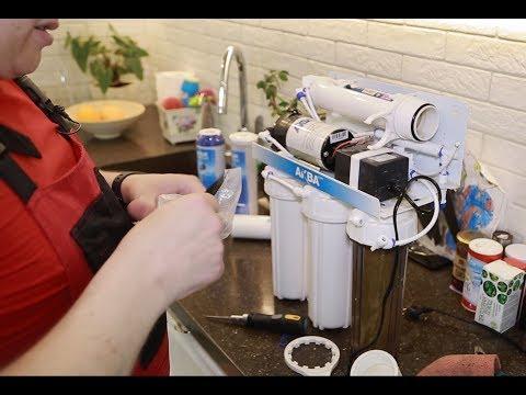 Как поменять фильтр обратного осмоса видео