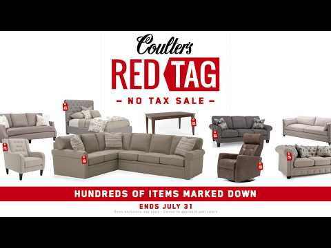 Red Tag Sale - No Tax July 2018 - Coulter's Furniture
