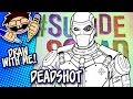 Let's Draw DEADSHOT (Suicide Squad) | Advanced Drawing Guide | Draw With Me Tutorial