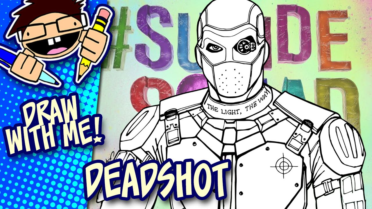 Lets Draw DEADSHOT Suicide Squad Advanced Drawing