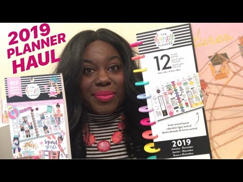 NEW! MICHAEL'S AND HOBBY LOBBY HAUL   2019 PLANNERS, WASHI TAPE, STICKERS AND MORE!!!