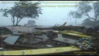 Hurricane Katrina Devastating Landfall In MS (Aug 29, 2005)