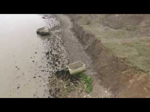 Warden Point sheppey by drone