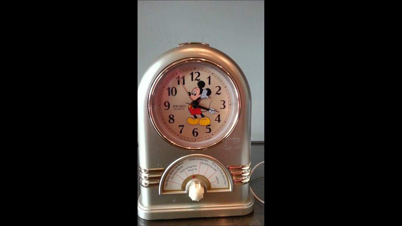 Seiko Quartz Disney Mickey Mouse Clock Youtube