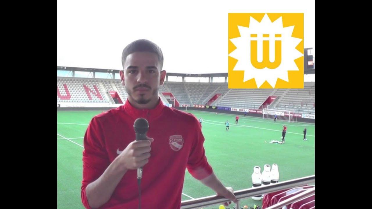 FC Thun U21 und Tunesischer U20 Nationalspieler Noussayr Batbout im Shems FM Interview (Fra/Arb)