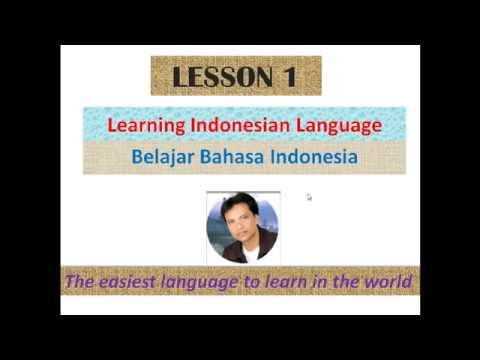Indonesian for beginners - Lesson 3