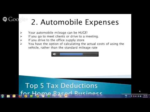Home Based Business Tax Advantages | The Evening Buzz Episode 3