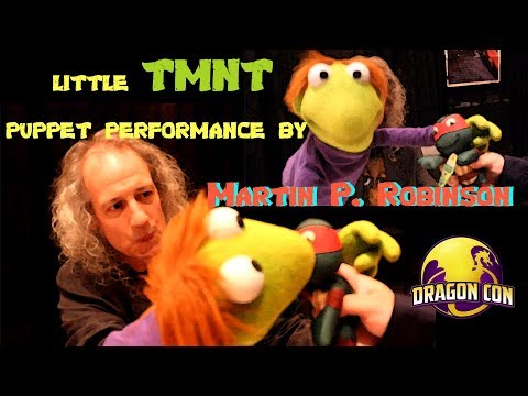 Ninja Turtles Puppet Performance by Sesame Street Performer - Martin Robinson @ Dragon Con 2017