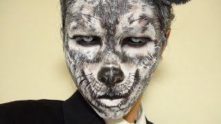 グレイ・ウルフメイク方法(化粧)Gray Wolf Makeup Tutorial
