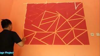 Cara Membuat Hiasan Dinding dengan Motif Geometri - Geometric Painting