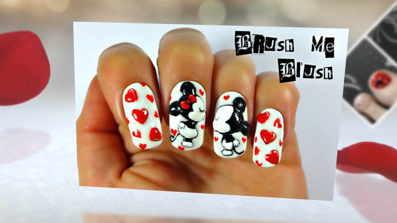 Decoraciones de Uñas de Mickey Mouse - YouTube