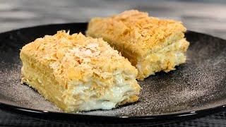 Торт Наполеон из 3 ингредиентов Рецепт торта за 20 минут Простой и вкусный торт