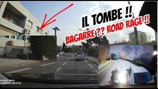 IL TOMBE DANS LA RUE + ROAD RAGE CAMION VS AUTO ! CONFINEMENT
