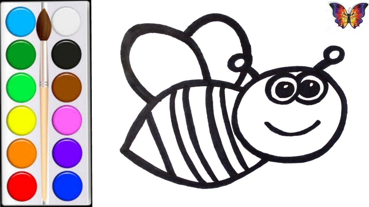 Как нарисовать ПЧЕЛУ / мультик раскраска ПЧЕЛА для детей ...