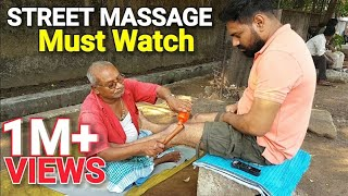 Street Laal Baba  Leg and Foot massage( Must watch and address mentioned in the description)