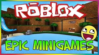 Roblox EPIC MINIGAMES!! (ESCAPE THE GIANT WATER PLATFORM) ROBLOX