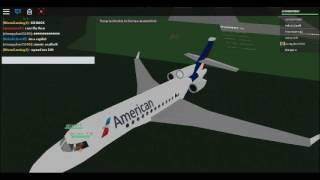 Roblox Avion Practice place - American airlines Boeing 727 Flight