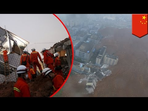 Natural disaster: landslide in Shenzhen, China collapses bui
