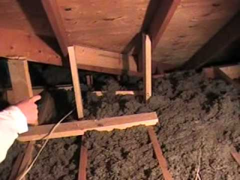 TJG Contractor Services, Attic With Support To Roof Joists Install  Wrong..MOD