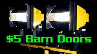 $5 Barn Doors For Work Lights
