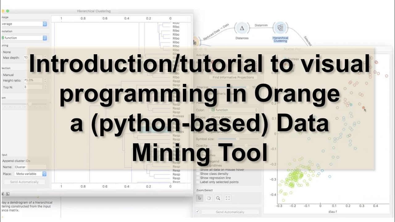 Introduction/tutorial to visual programming in Orange (python-based) a Data  Mining Tool