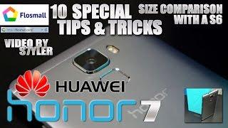 Huawei Honor 7 (10 Tips & Tricks) Bonus video / Size comparison / Google Cardboard App Test