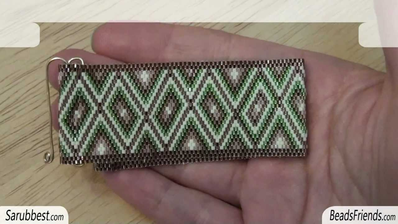 Beadsfriends Homemade Clasp Flat Even Count Peyote