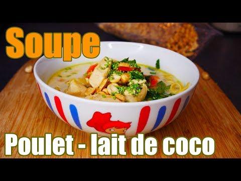 soupe-de-poulet-au-lait-de-coco-🍲