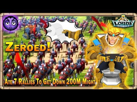 Lords Mobile | Eating 7 Rallies To Burn Down | Almost 30Million Troops!
