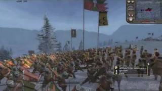 Medieval II: Total War PC Games Gameplay - Snow Combat