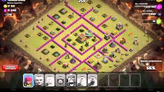 CLASH OF CLANS: PROVA ATTACCO in GUERRA ''GIA + GU + AR'' WAR ATTACK